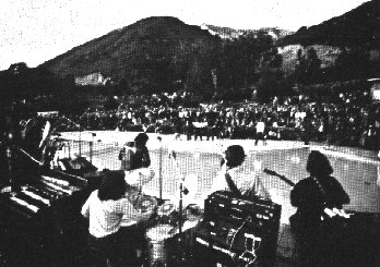 The View of the Big Sur Mountains from the stage at the Big Sur Folk Festival held at Esalen in 1967